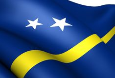 Flag of Curacao Royalty Free Stock Photography