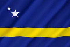 Flag of Curacao. Represents the Country of Curacao as well as the island area within the Netherlands Antilles from 1984 until its dissolution in 2010. Curacao royalty free stock image