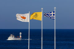 Flag of Cyprus, Greece and the Greek Orthodox Church. Stock Image