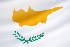 Flag of Cyprus. The national flag of Cyprus came into use on August 16 1960, when the constitution was drafted and Cyprus was proclaimed an independent state Royalty Free Stock Photo