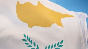 Flag of Cyprus. The national flag of Cyprus came into use on August 16 1960, when the constitution was drafted and Cyprus was proclaimed an independent state stock illustration