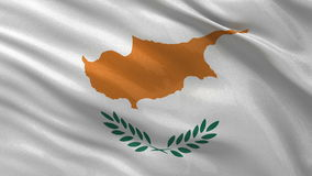 Flag of Cyprus seamless loop Stock Photo