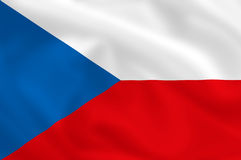 Flag of Czech Royalty Free Stock Images