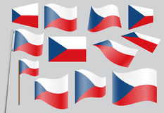 Flag of Czech Republic. Set of flags of Czech Republic vector illustration Royalty Free Stock Photo