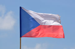 Flag of Czech Republic. Against blue sky Royalty Free Stock Image