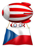 The flag of Czech Republic and the balloon Stock Photos