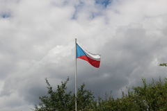 Flag of Czech republic Stock Photography