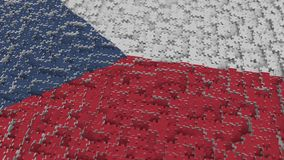 Flag of the Czech Republic being made with jigsaw puzzle pieces. Problem solution conceptual 3D rendering. Flag made of puzzle pieces, conceptual 3D royalty free illustration