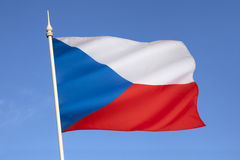 Flag of the Czech Republic - Europe. The national flag of the Czech Republic is the same as the flag of the former Czechoslovakia. Upon the dissolution of Royalty Free Stock Images