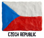 Flag of the Czech Republic made of plasticine. Royalty Free Stock Photography