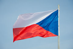 Flag of Czech Republic. Over blue sky background Royalty Free Stock Photos