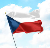 Flag of Czech Republic. Raised Up in The Sky Royalty Free Stock Image