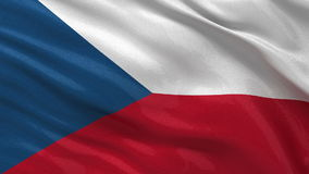 Flag of the Czech Republic seamless loop
