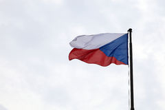 Flag of Czech republic Stock Photography