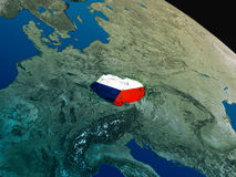 Flag of Czech republic from space Stock Images