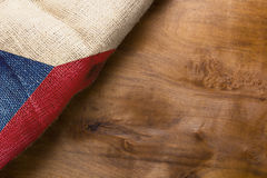 Flag of Czech Republic state. On a wooden background Stock Images