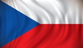 Flag of Czech Republic. Vector illustration Stock Photo
