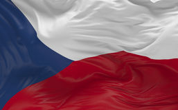 Flag of the Czech Republic waving in the wind 3d render Royalty Free Stock Photography
