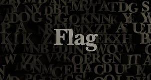 Flag - 3D rendered metallic typeset headline illustration Royalty Free Stock Image