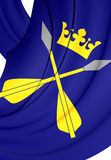Flag of Dalarna County, Sweden. Royalty Free Stock Image