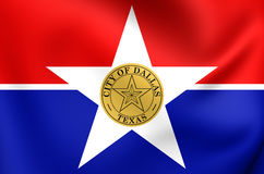 Flag of Dallas City, Texas. Stock Images
