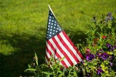 Flag in the garden Stock Photo