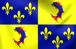Flag of Dauphine, France. Royalty Free Stock Photos