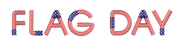 Flag Day. USA flag text Stock Photography