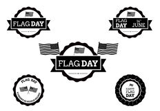 Flag day badge Stock Image
