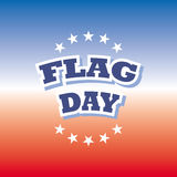 Flag day banner. Flag day america banner red and blue background  illustration Royalty Free Stock Images
