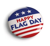 Flag Day Button. Happy USA Flag Day button badge. Clipping path included for easy selection Royalty Free Stock Image
