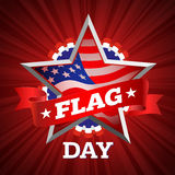 Flag day card Royalty Free Stock Photography