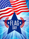 Flag day card Stock Images