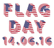 Flag Day from 3d USA Flag letters Royalty Free Stock Image