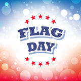 Flag day greeting card. Flag day america greeting card abstract background  illustration Stock Images