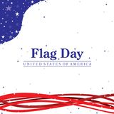 Flag Day illustration with the United States of America text. On a flag day patriotic color scheme stock illustration