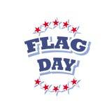 Flag day logo. Flag day america logo sign isolated on white background  illustration Stock Photo