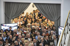 Flag day of the Republic of Poland in the Sejm of the Republic of Poland,. On May 2, 2015 in the Parliament of the Republic hosted a conference dedicated to the Royalty Free Stock Photos