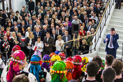Flag day of the Republic of Poland in the Sejm of the Republic of Poland,. On May 2, 2015 in the Parliament of the Republic hosted a conference dedicated to the Royalty Free Stock Photo
