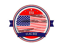 Flag day United States. Stamp. Stock Photos