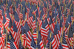 Flag Decorations - An American Holiday Royalty Free Stock Image