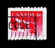 Flag, Definitives 1989-2005: Canadian Flag serie, circa 1991 Stock Photography