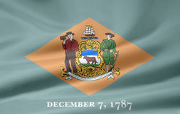 Flag of Delaware. A very large version of the flag of Delaware Stock Image