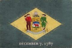 Flag of Delaware Grunge royalty free illustration