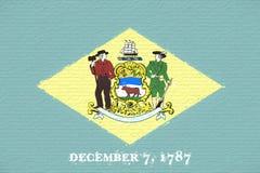 Flag of Delaware Wall. stock illustration