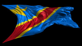 Flag of Democratic Republic of Congo Stock Photography