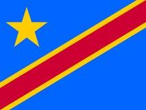 Flag of Democratic Republic of the Congo. Vector illustration. World flag Stock Photo