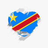 Flag of Democratic Republic of the Congo Royalty Free Stock Image