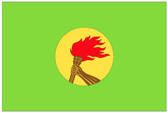 Flag: Democratic Republic of Congo stock images