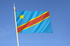 Flag of the Democratic Republic of the Congo Royalty Free Stock Photography